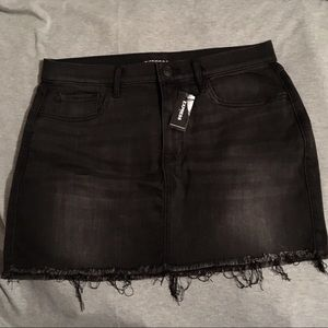 Express Black Denim mini skirt